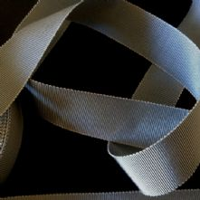 Dark Grey Milliner's Petersham Ribbon in 2 Widths